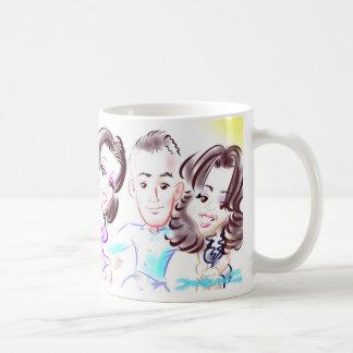 MSのパーティーの風刺漫画3someのマグ コーヒーマグカップ