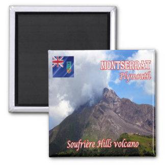 MS -モンセラート-プリマスSoufriereの丘の火山 マグネット