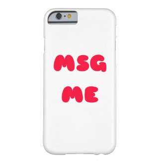 MSG私 BARELY THERE iPhone 6 ケース