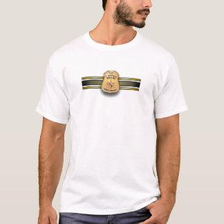 MSPのストライプなバッジ Tシャツ