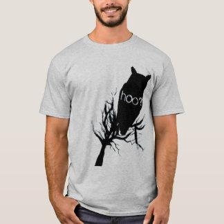 Msteriousのフクロウのシルエット Tシャツ