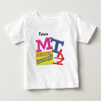 MTのお洒落なおもしろいの略称は実験室に文字を入れます ベビーTシャツ