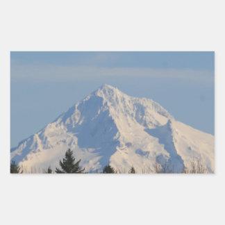 Mtのフード、オレゴン 長方形シール