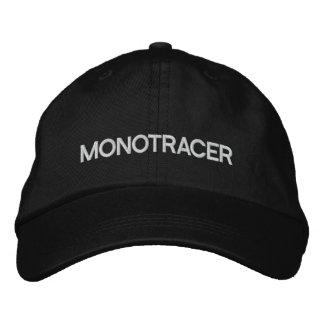MTの帽子-白いレタリング 刺繍入りキャップ