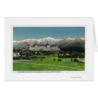 Mtワシントン州のホテル、大統領のな範囲の眺め カード