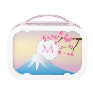 Mt富士のプラム花の春の日本語Umenohana ランチボックス