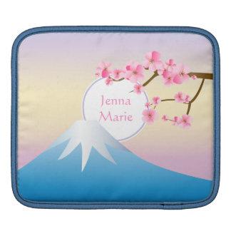 Mt富士のプラム花の春の日本語Umenohana iPadスリーブ