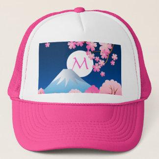 Mt富士の桜の春の日本夜桜 キャップ