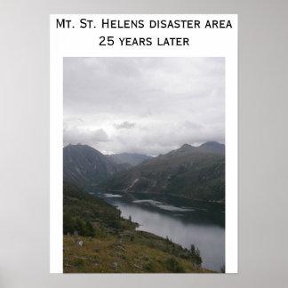 Mt.セントヘレンズの景色の打撃 ポスター