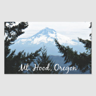 Mt.フード、オレゴン 長方形シール