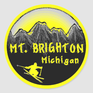 Mt.ブライトンミシガン州のスキーヤー ラウンドシール