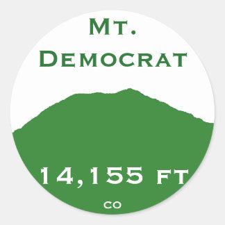 Mt.民主党員のステッカー ラウンドシール