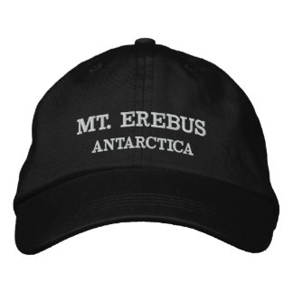 Mt. Erebus, Antarctica Adjustable Hat 刺繍入りキャップ