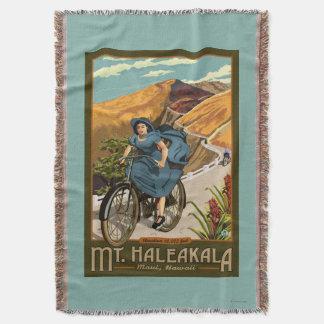 Mt. Haleakalaの自転車はハワイに乗ります スローブランケット
