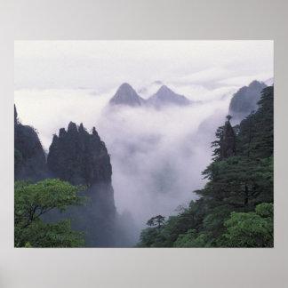 Mt. Huangshan (黄色い山)の景色 ポスター
