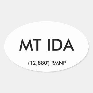 Mt Idaの楕円形のステッカー 楕円形シール