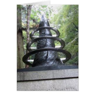 Mt. Kuramaの彫刻 カード