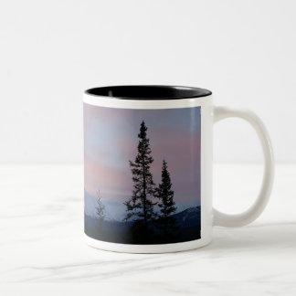 Mt Lorneの日の出 ツートーンマグカップ