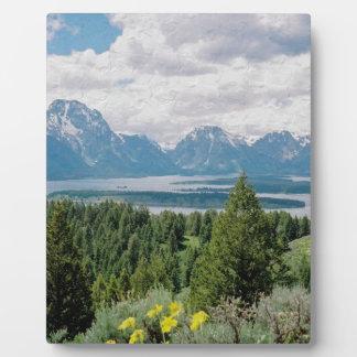 Mt. Moranおよびjackson湖 フォトプラーク