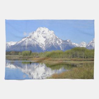 Mt. Moran壮大なTetonの国立公園 キッチンタオル