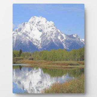 Mt. Moran壮大なTetonの国立公園 フォトプラーク
