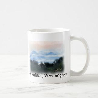 、Mt. Rainer雨、mtワシントン州 コーヒーマグカップ