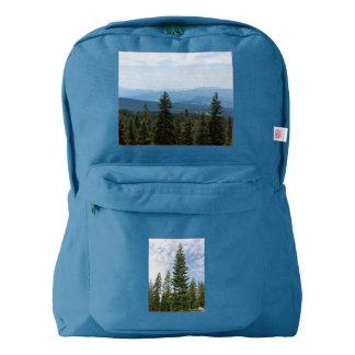 Mt Shastaのバックパックの赤いモミの木 American Apparel™バックパック