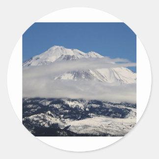 Mt. Shastaの冬 ラウンドシール