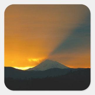 Mt. Shastaの日の出 スクエアシール