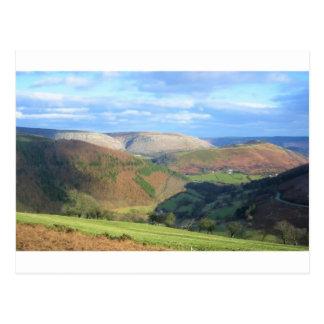 Mt Snowden、ウェールズからの眺め ポストカード
