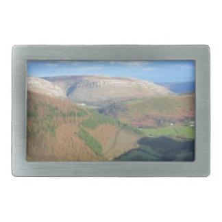 Mt Snowden、ウェールズからの眺め 長方形ベルトバックル