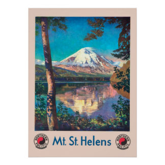 Mt. St. Helens, for Northern Pacific Vintage ポスター