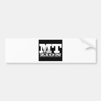 Mt Zionの黒n白のロゴ バンパーステッカー