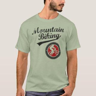 MTBのマウンテンバイクのレトロのグラフィック、黒及び赤 Tシャツ