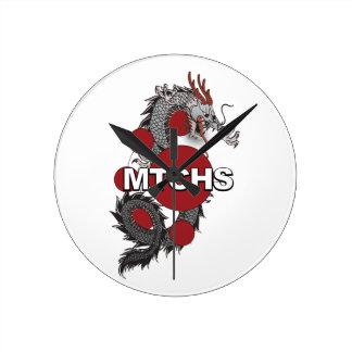 MTCHSのドラゴンのロゴ ラウンド壁時計