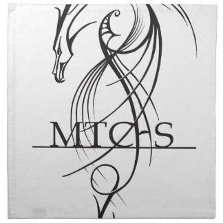 MTCHSのドラゴンLineart ナプキンクロス