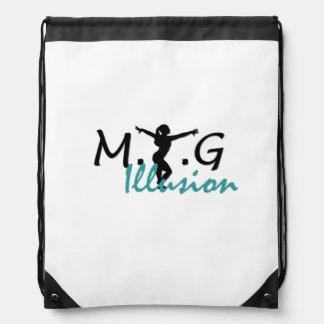 MTGの錯覚のドローストリングバッグ ナップサック