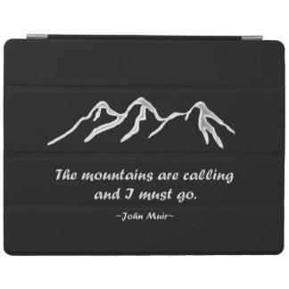Mtnsは黒いデザインの呼びましたりまたはSnowyのブリザード iPad カバー