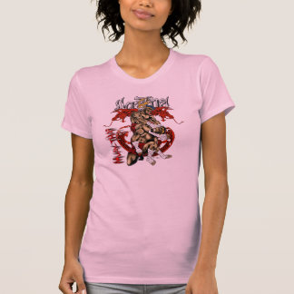 Muayタイのドラゴンの女の子 Tシャツ
