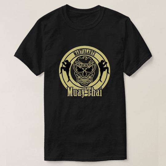 Muay Thai , Martial Arts , Kick Boxing , Skull Tシャツ
