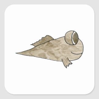 Mudskipperの魚 スクエアシール