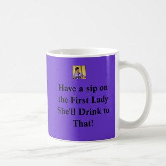 Mugミケーレオバマの最初女性 コーヒーマグカップ