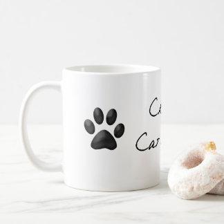 Mug熱狂するな猫の女性 コーヒーマグカップ