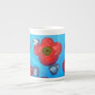 Mug軽い花の女性 ボーンチャイナカップ