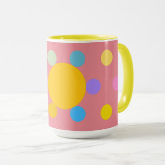 "Mug grand modèle 2 couleurs, rose, ""Fleur Pastel"" マグカップ"