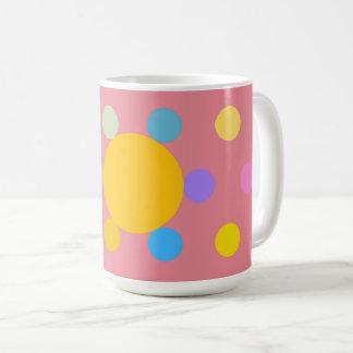 "Mug grand modèle, rose, ""Fleur stylisée Pastel"" コーヒーマグカップ"