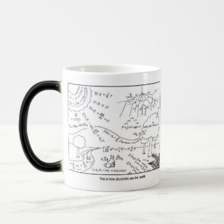 Mug How physicists see the world [RIGHT HANDED] モーフィングマグカップ