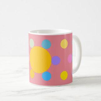 "Mug petit modèle, rose, ""Fleur stylisée Pastel"" コーヒーマグカップ"