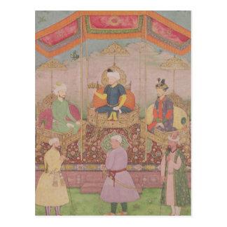 Mughal皇帝Baburおよび彼の息子、Humayan ポストカード