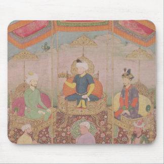 Mughal皇帝Baburおよび彼の息子、Humayan マウスパッド